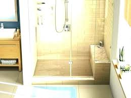size of corner shower seat bench height standard seating for walk in showers bathrooms bathroom built