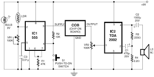 flame gas and smoke detector schematic design cut phone line detector · fire alarm ldr sensor
