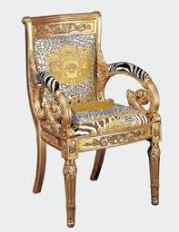 Versace Home - Sedia Heritage ~ This would be quite the anomaly in my home.