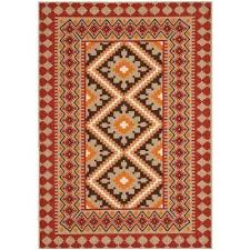 veranda red natural 8 ft x 11 ft indoor outdoor area rug