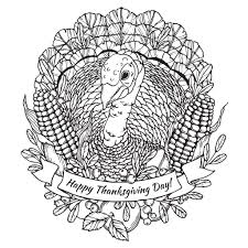 Shockingpy Thanksgiving Coloring Pages Sheets Free Banner Shocking