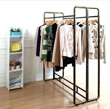 shelves for clothing luxury elegant clothes rack shelf garment with wrought iron and wood beautiful