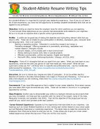 Strengths For A Resume Sample Resume For High School Student Athlete Best Of Sports 82