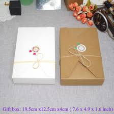wedding invitation paper types online wedding invitation paper 20pcs lot 19 5cmx12 5cmx4cm kraft paper gift box envelope type kraft cardboard boxes package for wedding party invitation cards
