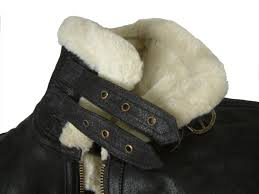 fur lined leather flying jacket