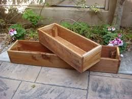 Photo 7 of 9 Adorable Large Outdoor Planter Boxes As Garden Decoration :  Great Garden Decoration With Rectangular Wooden Outdoor