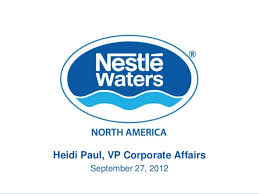 Nestle Waters North America Heidi Paul Nestle Waters North America