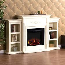 Full Image for Antique Cast Iron Electric Fireplace Insert Retro Floor  Standing White Bookcases Heaters ...