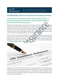Online Quote For Life Insurance Adorable Get Affordable Life Insurance Quotes from Kaups Insurance Kaups