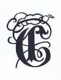 切り絵初心者向け無料図案 アルファベットシリーズ C 切り絵blog 影