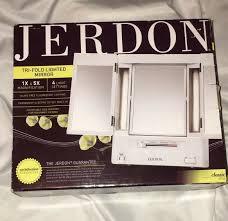 Jerdon Deluxe Lighted Makeup Mirror Upc 027043071866 Jerdon Deluxe Lighted Makeup Mirror