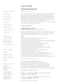 Restaurant Manager Resume Skills Restaurant Manager Skills For Resume Serving Mmventures Co