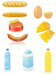 Dairy Products And Baked Goods Vector Image Of Food And Beverages