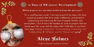"""NBCDA/ADCNB on Twitter: """"Day 12: Which projects are you most proud of from  the past year? Alene Holmes (@AleneHolmes), President of Steinbach  Consulting & Associates (https://t.co/vtjCwYJbhM)… https://t.co/K8CbF9Y1AL"""""""