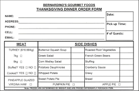 pie order form template thanksgiving food order form template besttemplates123 sample