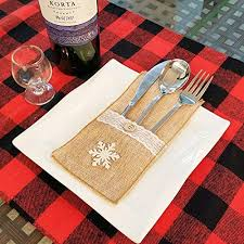 shaui Christmas <b>knife and</b> fork bag <b>Christmas decoration</b> gift ...
