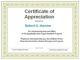 Certificate Of Appreciation For Volunteers Best Volunteer