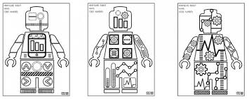 Small Picture Minifigure Robot Coloring Pages Free Printable Coloring Sheets