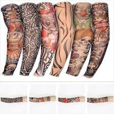 Six Combo Bezešvé Tetování Rukávy Květinové Rukávy Rukávy Tattoo