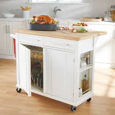 Movable Kitchen Island Designs Real Simple Rolling Kitchen Island In White 300 Bed Bath