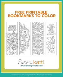 Just print, color, and cut. Free Coloring Bookmarks To Make Your Reading Colorful