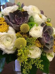 36 best wedding flowers images on pinterest wedding, wedding Wedding Bouquets In San Antonio natural bridal bouquet of white ranunculus, succulents, billy balls, yellow yarrow, and wedding bouquets san antonio