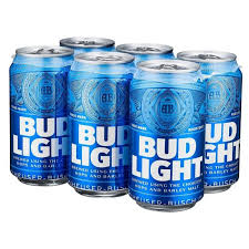cerveza importada bud light 6 latas de