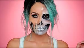 cool melting skull makeup tutorial