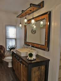 Rustic Bathroom Vanity Lights Cool Rustic Industrial Light Steel And Barn Wood Vanity Light Vintage