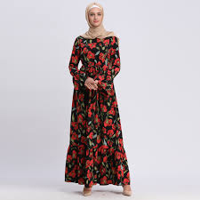 New Dress Design Pic New Style Turkish Clothes Long Sleeve Floral Plus Size Muslim Wedding Dress Best Design Arab Dresses Model Baju Kurung Malaysia Buy Model Baju