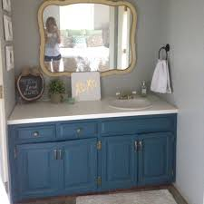 Painting bathroom vanity before and after Gray After Swoonworthy Color Painting The Existing Vanity The Family Handyman 12 Astonishing Diy Bathroom Vanity Makeovers The Family Handyman