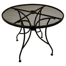 coffee table astounding round outdoor umbrella hole metal patio tables