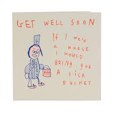 Get Well Soon Poster Get Well Soon Sick Bucket Card