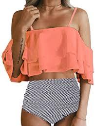 High-Waisted - Bikinis / Swimsuits & Cover Ups ... - Amazon.com