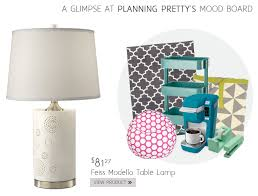 a glimpse of camille simmon s dorm room lamps mood board from planning pretty