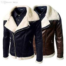 fall nordic style jackets for men pilot jacket with turn down collar fur vintage er leather 2016 mens leather jacket coats for men from sheju