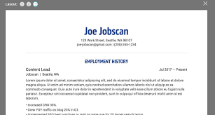 Free Resume Fascinating Top 60 Free Resume Builder Reviews Jobscan Blog