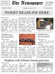 Creating A Newspaper Template Home Journal 4 Page Bundle