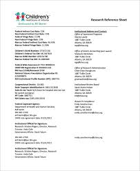 Refference Sheet Free 12 Sample Reference Sheet Templates In Pdf Doc