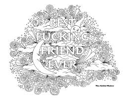Small Picture BFF Best Fucking Friend Ever Adult Coloring Page by The