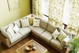 ... Outstanding Living Room Sofa Set Designs Ashley Furniture Wooden Floors  And Flowered Curtains ...