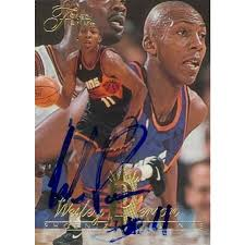 Wesley Person autographed Basketball Card (Phoenix Suns) 1995 Fleer Flair  #289