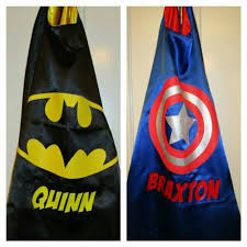 Personalized Superheroes Set Of 2 Batman And Captain America Cape Cape For Kids Personalized Super Hero Cape Superhero Cape Birthday Party Favor