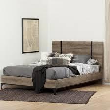 Weathered Oak Furniture South Shore Valet Weathered Oak Queen Platform Bed 10529 The