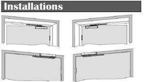 door closer installation. door closer s123ho installation