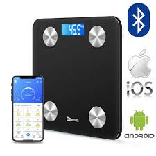 Wireless Digital <b>Bathroom Body Fat Scale 180KG</b> Bluetooth <b>Scales</b> ...
