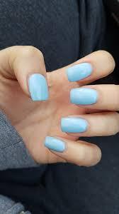 Short Square Light Blue Nails Blue Acrylic Nails Square