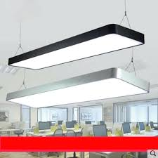 full image for fillet led office chandelier aluminum t5 long office building study commercial lighting daylight