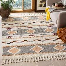 kenya ivory black orange 9 ft x 12 ft area rug