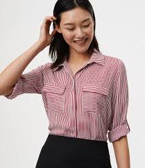 loft utility blouse. striped utility blouse loft l
